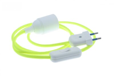 Textile cable YELLOW REFLEX ZL2 with sleeve, switch and plug