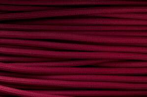 Textile cable Bordeaux (dark red) B28 braided 2x0.75 and 3x0.75mm2