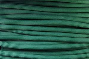 Textile cable Green Dark ZE1 braided 2x0.75 and 3x0.75mm2