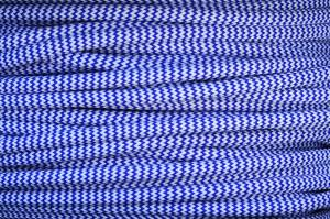 Textile cable Zig Zag Blue-White 23 braided 2x0.75 and 3x0.75mm2