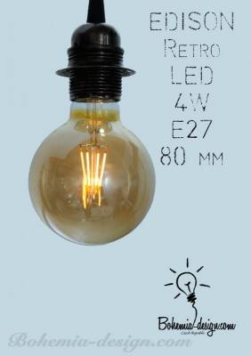 LED žárovka Edison 4W/230V patice E27 (retro) model Eb1180