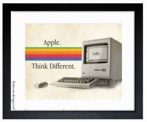 Ilustrace Apple Think Different 30x40 cm