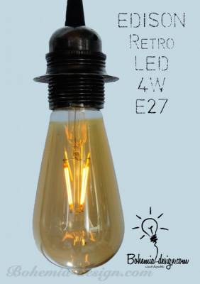 LED Žárovka Edison 4W/230V patice E27 (retro) model Eb333