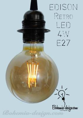 LED žárovka Edison 4W/230V patice E27 (retro) model Eb1195